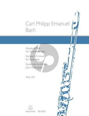 Bach Sonata a-minor WQ 132 Flute solo (edited by M.Harras) (Barenreiter-Urtext)