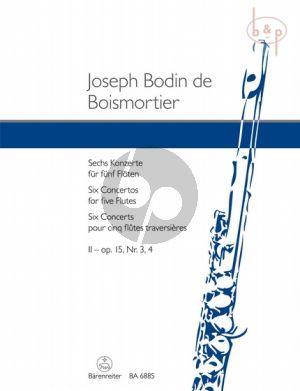 6 Konzerte Op.15 Vol.2 No.3 - 4 5 Flutes
