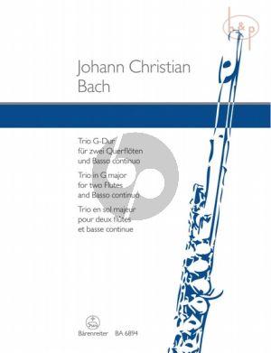 Trio G-major 2 Flöten und Bc