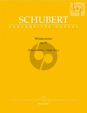 Schubert Winterreise Op.89 (D.911) High Voice (edited by Walther Durr)