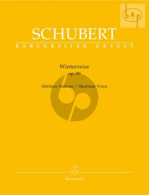 Schubert Winterreise Op.89 (D.911) Medium Voice (edited by Walther Durr)