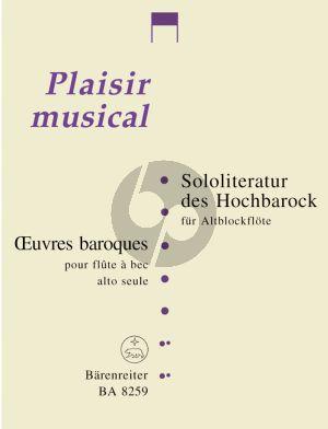 Sololiteratur des Hochbarock für Altblockflöte (Bernard Thomas)