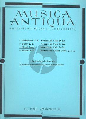 Pleyel Konzert D-dur Op. 31 Viola und Klavier