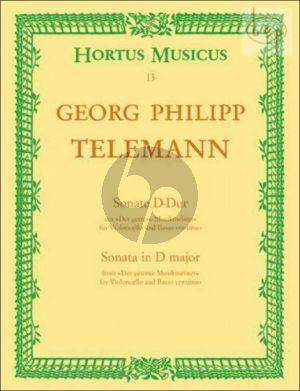 Telemann Sonata D-major TWV 41:D6 Violoncello-Bc (from Der Getreue Musikmeister) (edited J.Dietz Degen)