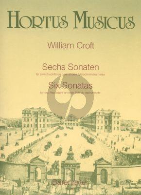 Croft 6 Sonaten 2 Altblockflöten (Paul Rubardt)