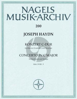 Konzert für Klavier (Cembalo) und Streicher (ohne Viola) C-Dur Hob. XVIII:5 Partitur
