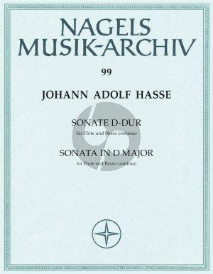 Sonate D-dur Flote und Klavier[Bc]