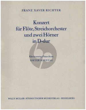 Konzert D dur Flote-Str-2 Hrns Ausgabe Flote-Klavier