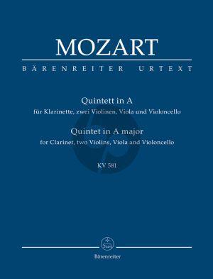 Mozart Quintett A-dur KV 581 Klarinette-Streicher Studienpartitur (Ernst Fritz Schmid) (Barenreiter-Urtext)