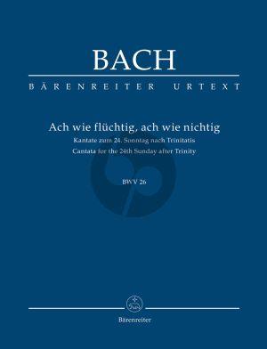 Bach Kantate No.26 Ach wie flüchtig, ach wie nichtig BWV 26 (Taschenpartitur ed. Alfred Durr) (Barenreiter Urtext)