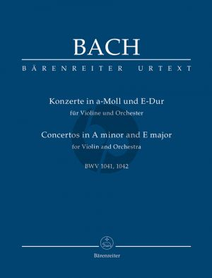 Bach Concerto's a-minor and E-major BWV 1041-1042 (Violin-Orch.) Study Score