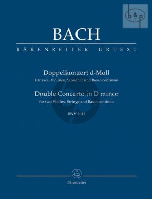 Concerto d-minor BWV 1043 2 Violins and Orchestra Study Score