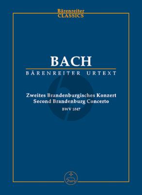 Bach Brandenburgisches Konzert No.2 F-Dur BWV 1047 (Study Score) (Urtext Neue Bach-Ausgabe)