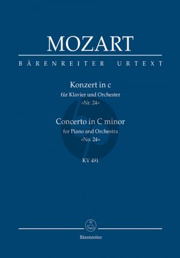 Konzert c-moll KV 491 Klavier-Orchester Studienpart.