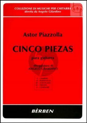 Piazzolla 5 Piezas Guitar solo