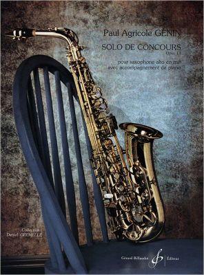 Genin Solo de Concours Op.13 Alto Saxophone-Piano