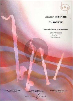 Sonate No.7 Clarinette-Piano