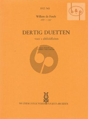 Fesch 30 Duetten 2 Altblokfluiten (Gerit Vellekoop)