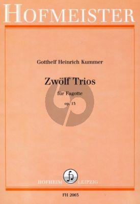 Kummer 12 Trios Op.13 3 Fagotte