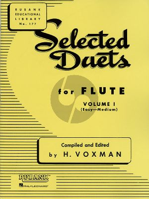 Voxman Selected Duets for Flute Vol.1 (Easy-Medium)
