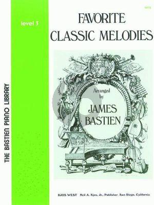 Bastien Favorite Classic Melodies Level 3 Piano