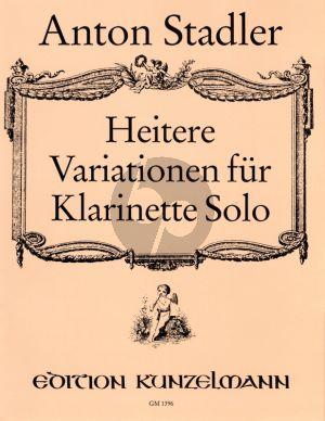 Stadler Heitere Variationen üb. Familie Pumpernickel Klarinette solo
