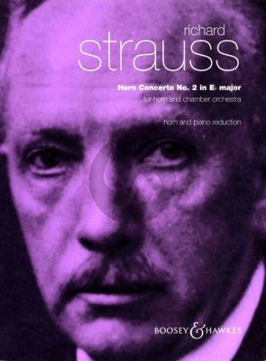 Strauss Concerto No. 2 in E Flat Major o. Op. AV 132 Horn and Orchestra (piano reduction (Horn in Eb)
