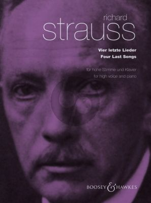 Strauss 4 Last Songs (4 Letzte Lieder) High Voice and Piano (Englis/German)