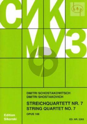 Streichquartett No.7 Op.108 Fis-moll Stimmen