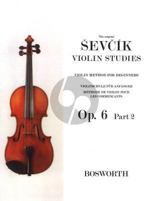 Sevcik Violin Method for Beginners Op.6 Vol.2 (1st Position)