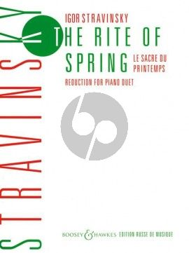 Strawinsky Sacre du Printemps - Rite of Spring Ballet. Reduction for Piano Duet by the Composer