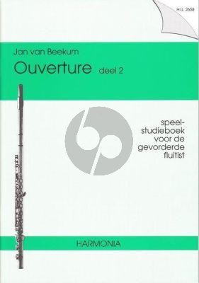 Beekum Ouverture Vol. 2 Fluit (Speel- Studieboek gevorderde Fluitist)