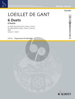 6 Duets Op.5 Vol.1 (No.1 - 3) 2 Treble Recorders
