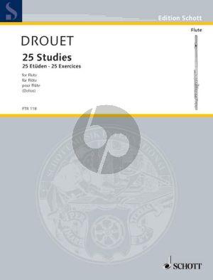 Drouet 25 Etuden für Flöte (Originalausgabe von 1827)