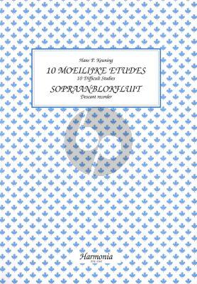 Keuning 10 Moeilijke Etudes Sopraanblokfluit (10 Difficult Studies for Descant Recorder)