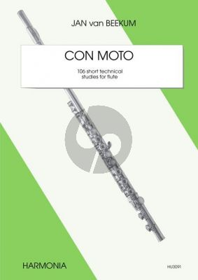 Beekum Con Moto (106 Short Technical Studies) Flute