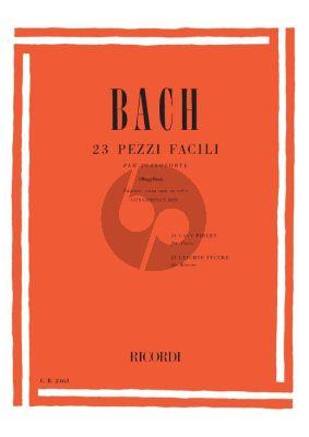 Bach 23 Pezzi Facili (23 Easy Pieces) Piano (Bk-Cd) (edited by Bruno Mugellini)