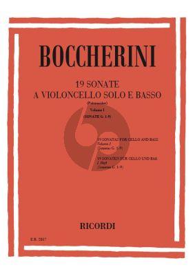 Boccherini 19 Sonatas Vol.1 (G. 1 - 9) (Vito Paternoster)