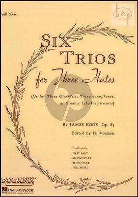 6 Trios Op.83 3 Flutes