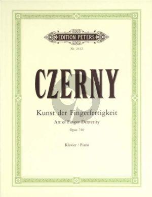 Czerny Kunst der Fingerfertigkeit Op.740 Piano