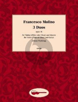 Molino 3 Duos Op.16 Violin [Flute/Oboe] and Guitar (Simon Wynberg)