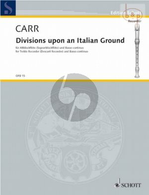 Divisions upon an Italian Ground (from the Delightful Companion