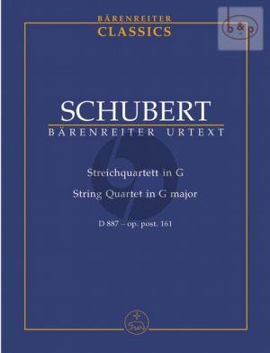Quartet G-major D.887 Op.Posth.161