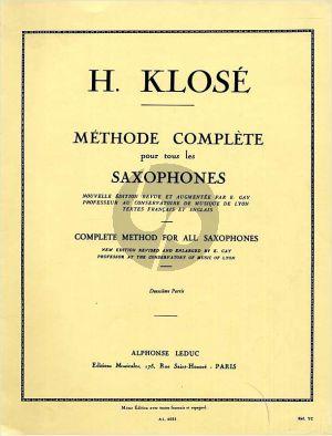 Klose Methode Complète Vol.2 pour Saxophone (Leduc) (fr./engl.)