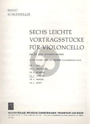 Schlemuller 6 leichte Vortragsstucke Op.12 No.6 Gebet