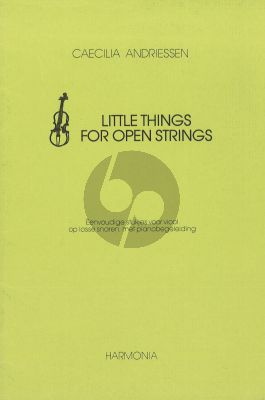 Andriessen C. Little Things for Open Strings Violin - Piano