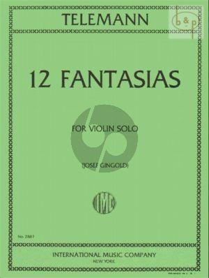 12 Fantasias Violine solo TWV 40:14 - 25