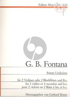 Sonata Undecima (2 Violins[Rec.]-Bc)