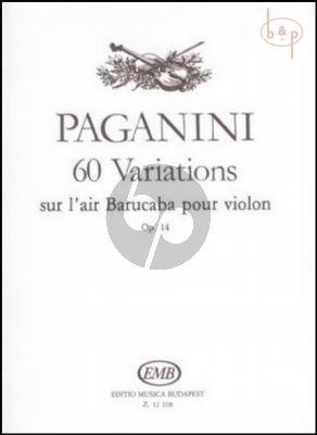 60 Variations sur l'Air Barucaba Op.14 Violon solo