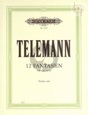 12 Fantasien Violine solo (TWV 40:14 - 40:25)